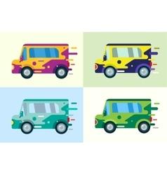 cartoon car icon vector image