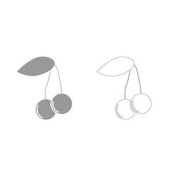 Cherry the grey set icon vector