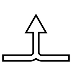 Connect arrow up outline icon vector