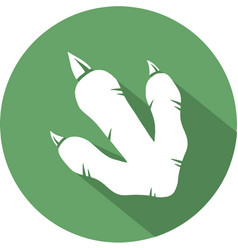 Dinosaur footprint circle flat design icon vector