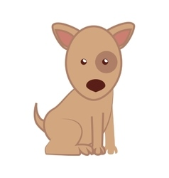 Dog cartoon puppy isolated vector