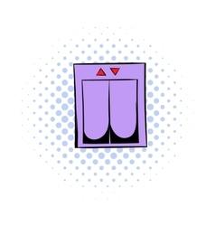 Elevator comics icon vector