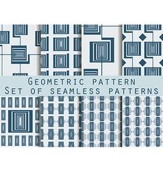 Geometric seamless pattern set vector image