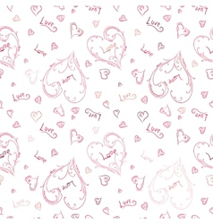 Hand-painted heart pattern vector image