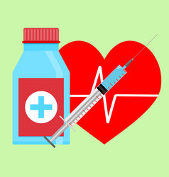 injection of adrenaline to heart vector image vector image
