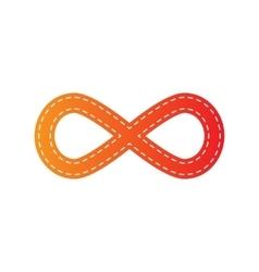 Limitless symbol orange applique vector