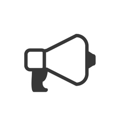 Megaphone message communication icon vector