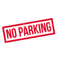 no parking rubber stamp vector image