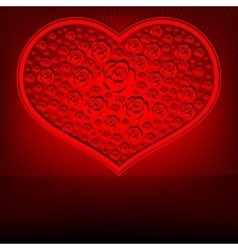 Red design heart vector