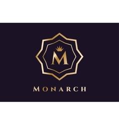 Royal logo template hotel vector image vector image