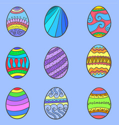 Set of easter egg various collection vector