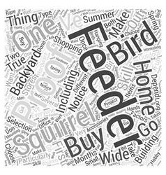 Squirrel proof bird feeder word cloud concept vector