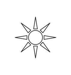 Sun icon outline contour vector