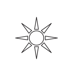 Sun icon outline contour vector image vector image