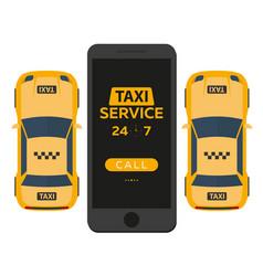 Taxi service mobile app for booking service taxi vector