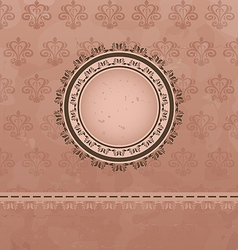 Vintage background with floral medallion vector
