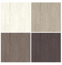 Wood texture background in four colors for design vector