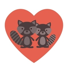 Isolated raccoon cartoon design vector image