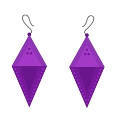 Earrings beautiful accessory isolated vector