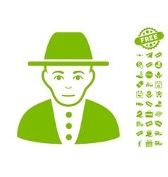 Jew Icon With Free Bonus vector image
