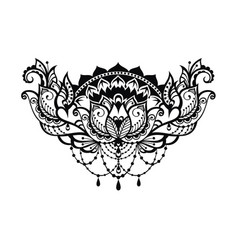 Lotus decorative vector