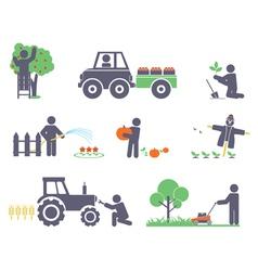 Work in the garden vector