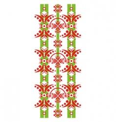 vertical decorative floral vector image