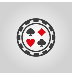 The casino chip icon casino chip symbol flat vector