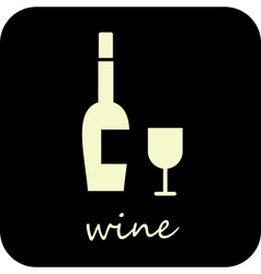 wine and wine glass vector image
