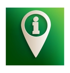 Map pointer with info sign vector