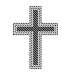 Religious cross sign vector