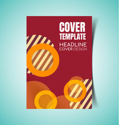 abstract report cover6 vector image