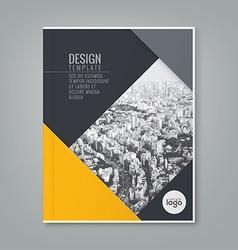 Annual report book cover brochure flyer design vector