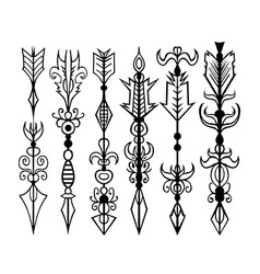 Arrows tattoo set vector image