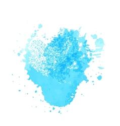 Bright blue watercolor vector image vector image