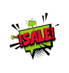 colored comic text sale tag discount vector image