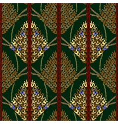 Colored knitted openwork background pattern vector