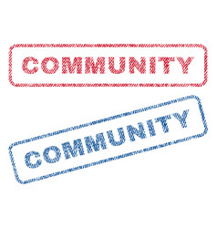 community textile stamps vector image