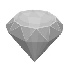Diamond icon in monochrome style isolated on white vector
