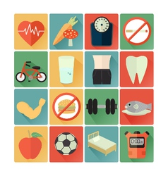 Flat icons health vector