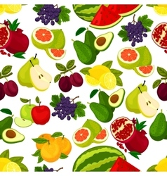 Fresh fruits seamless pattern vector