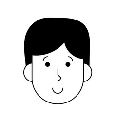 happy man cartoon icon image vector image vector image