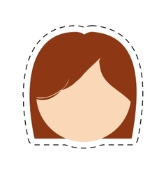 Head woman mother cut line vector