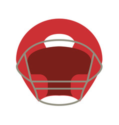 Helmet american football front view vector