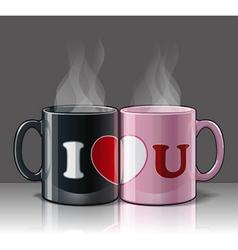 I love u mags black pink vector