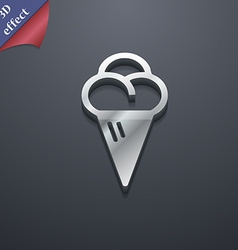 Ice cream icon symbol 3d style trendy modern vector