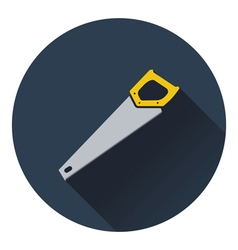 Icon of hand saw vector