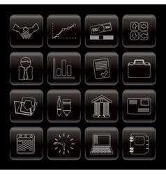line business and office icons vector image vector image