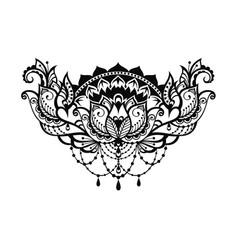 lotus decorative vector image vector image
