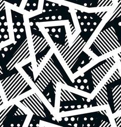 monochrome cloth seamless pattern vector image vector image